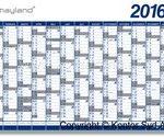 Hold styr på planerne med en kalender på kontoret foto kontortingdk